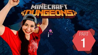 Minecraft Dungeons Pt. 1 | It begins | Gaming with Tracy