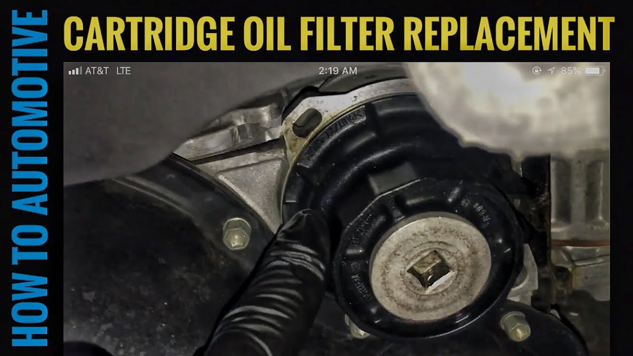 How To Change The Cartridge Oil Filter On A Toyota Youtube Fram Fuel Housing Howtoautomotive Autorepair Brianeslick