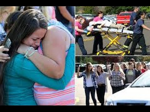 Outrage as 10 killed in U S  college , Wounded student tells dad