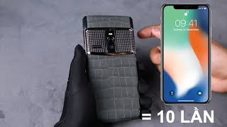 Trên tay Smartphone đắt giá gấp 10 lần iPhone X : Vertu New Signature Touch Clous de Paris Alligator