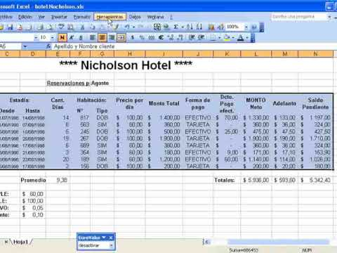 Excel una pr ctica youtube for Nomina en excel xls