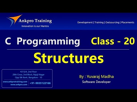 C language - Class 20 : Structures in C with examples