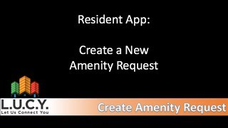 Resident - Create Amenity Request