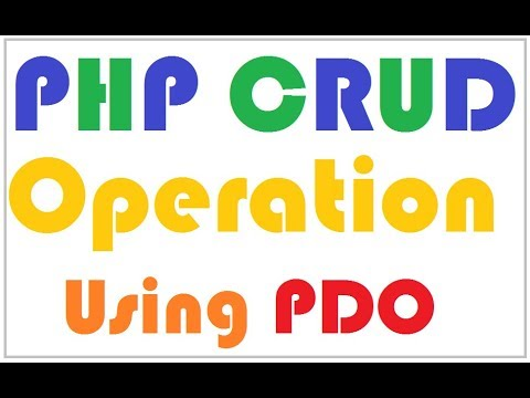 PHP CRUD (Create, Update, Delete) with MySQL on a single page