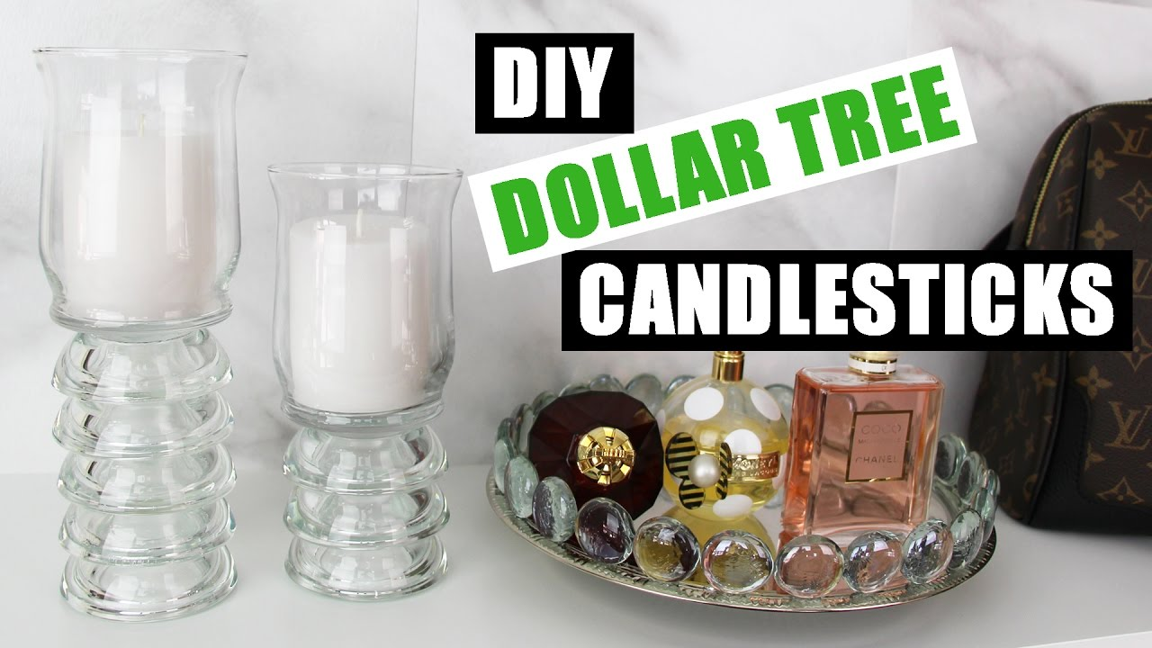 diy dollar tree candlesticks dollar store diy candle holders decor diy room decor - Diy Candle Holders