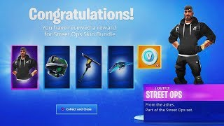 "How to Unlock ""STREET OPS BUNDLE"" in Fortnite (FREE STREET OPS SKIN + VBUCKS)"