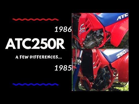 85 VS 86 Honda ATC 250R Top 10 Differences