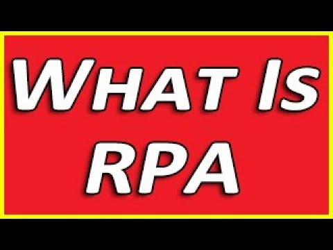 What is RPA - Overview Course
