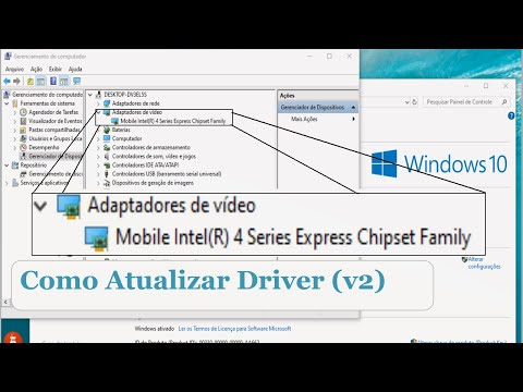 ATUALIZAR DRIVER INTEL MOBILE INTEL(R) 4 SERIES EXPRESS CHIPSET FAMILY WINDOWS 10