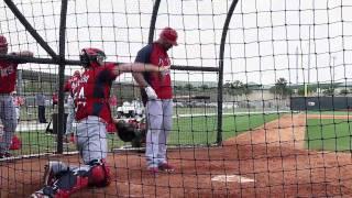 Albert Pujols and Yadier Molina Batting Practice - Spring Training 2011