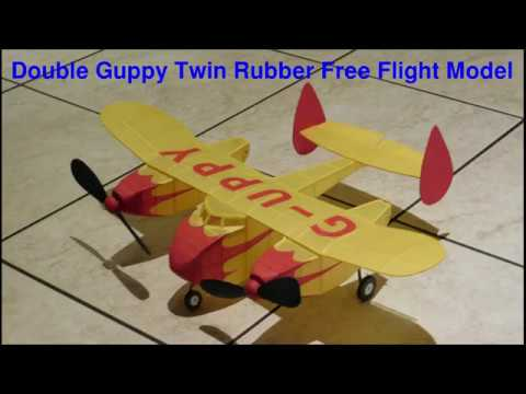 Twin Rubber Powered Free Flight