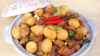 Braised Pork Belly With Quail Eggs  - Thịt Ba Chỉ Kho Trứng Cút