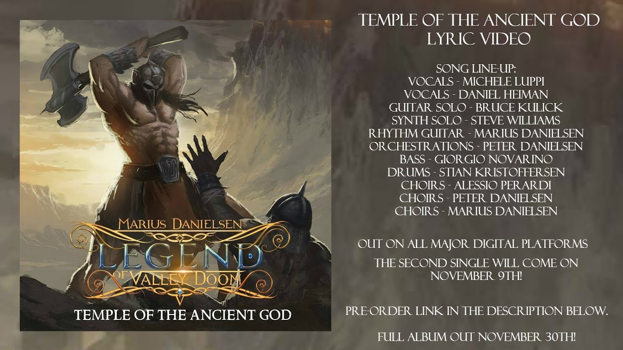 Download Marius Danielsen's Legend of Valley Doom - Temple of the Ancient God (Official Lyric Video)
