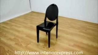 Interiorexpress Ghost Chair - Black Acrylic Stackable Side Chair