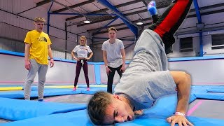 TRAMPOLINE PARK OBSTACLE COURSE CHALLENGE! {Mega FUN}