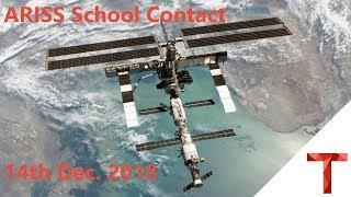 ARISS School Contact with Kenilworth School - 14th December 2018 - LIVE