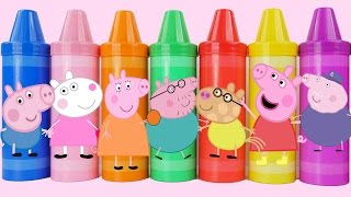 Learn Colors Play Doh Peppa Pig Creations with Play Doh Molds Fun & Creative for Kids