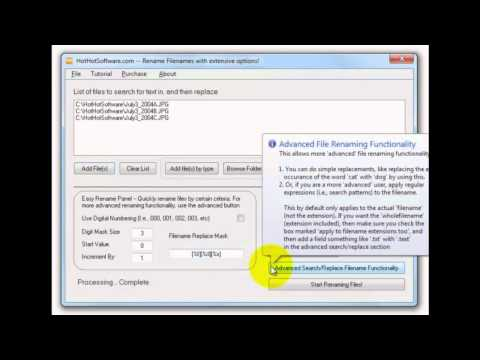 Basic Batch File Rename using on Windows 10 from YouTube · Duration:  2 minutes 29 seconds