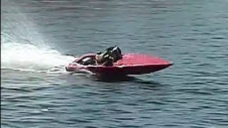 Homemade 23 Cc Rc Boat First Run