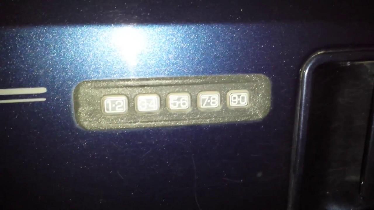 Excursion Door Entry Code 2002 2005 Youtube