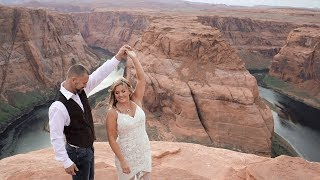 Horseshoe Bend Elopement {Flagstaff and Sedona Wedding Videographer}