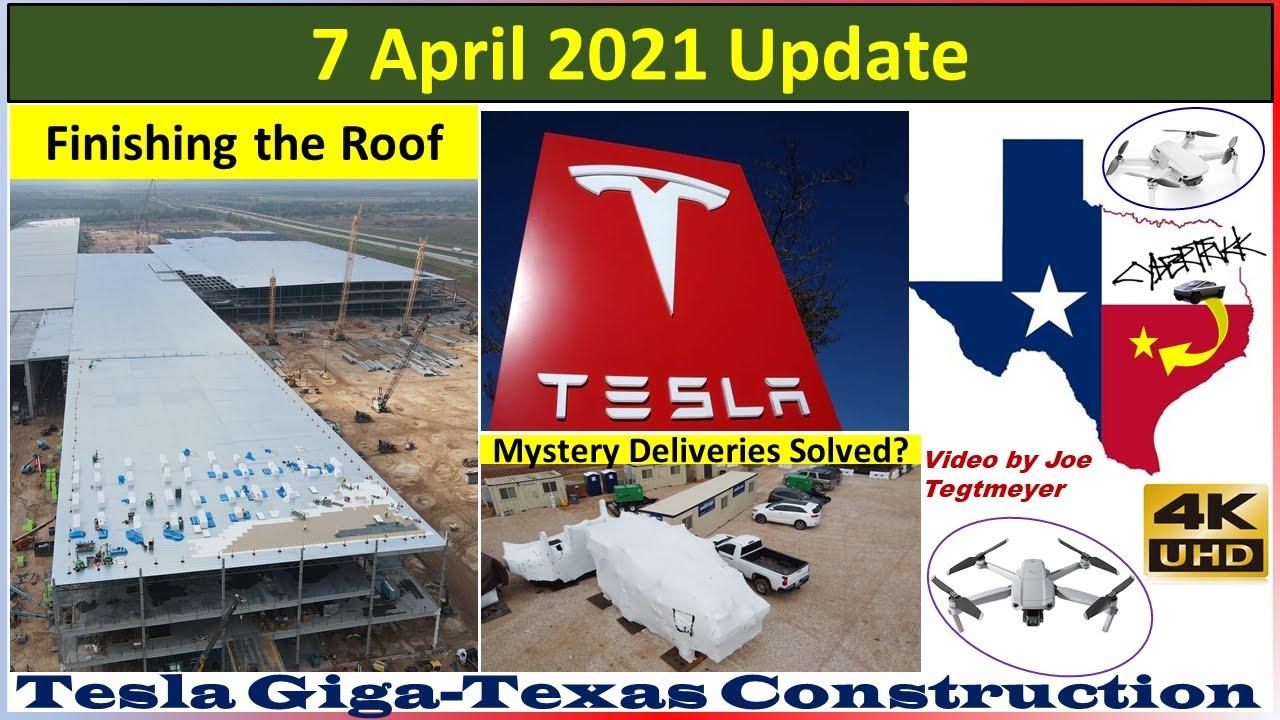 Tesla Gigafactory Texas 7 April 2021 Cyber Truck & Model Y Factory Construction Update (08:00AM)
