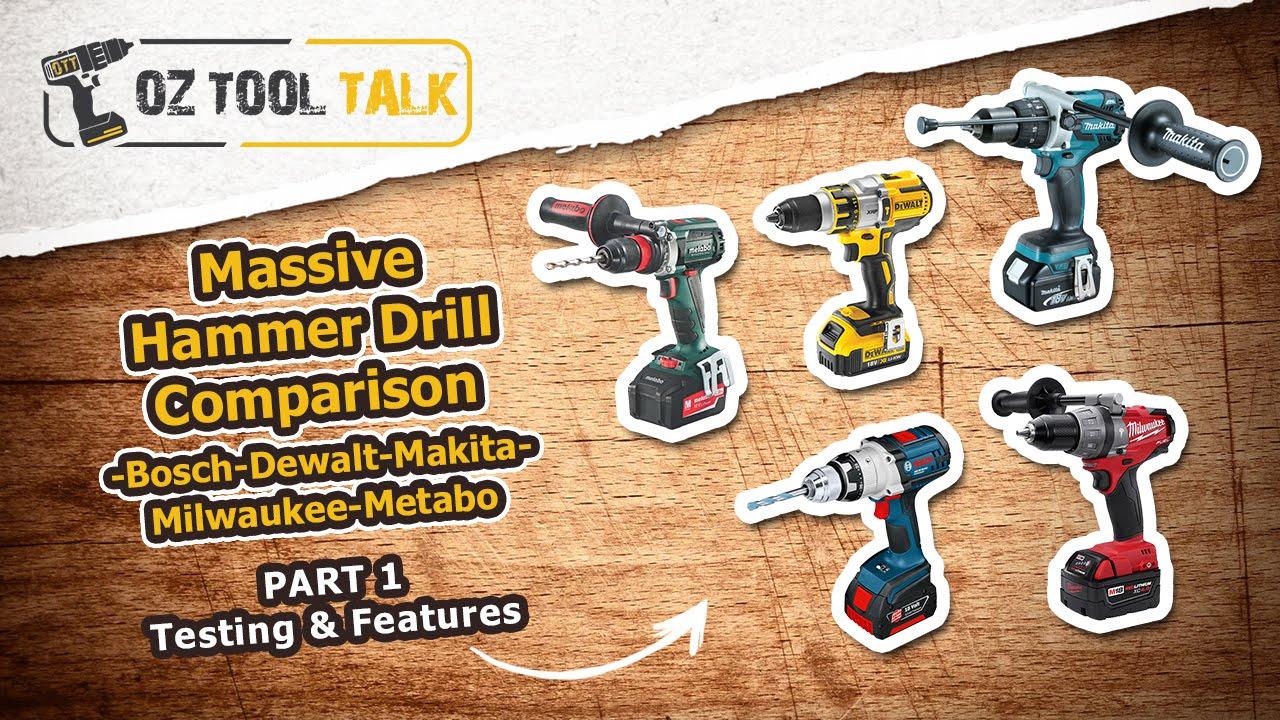 Makita, Milwaukee, Dewalt, Bosch & Metabo - Part 1: 18V Brushless Hammer  Drill Comparison