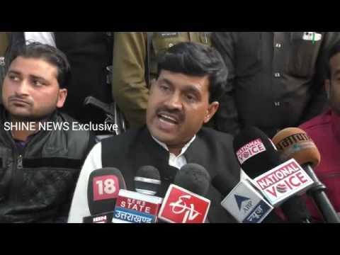 Etah- Poorv Adhyaksh Zila Panchayat Jugendra Singh Yadav ne Sabhapati k MLA bete ko bataya Nashedi