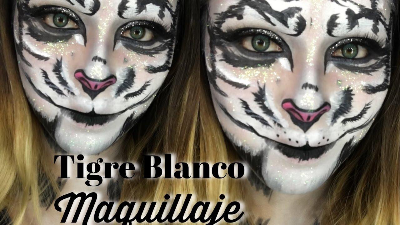 Tigre Blanco Maquillaje White Tiger Makeup Youtube