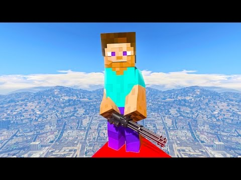 MINECRAFT in GTA 5! (GTA 5 Mods)