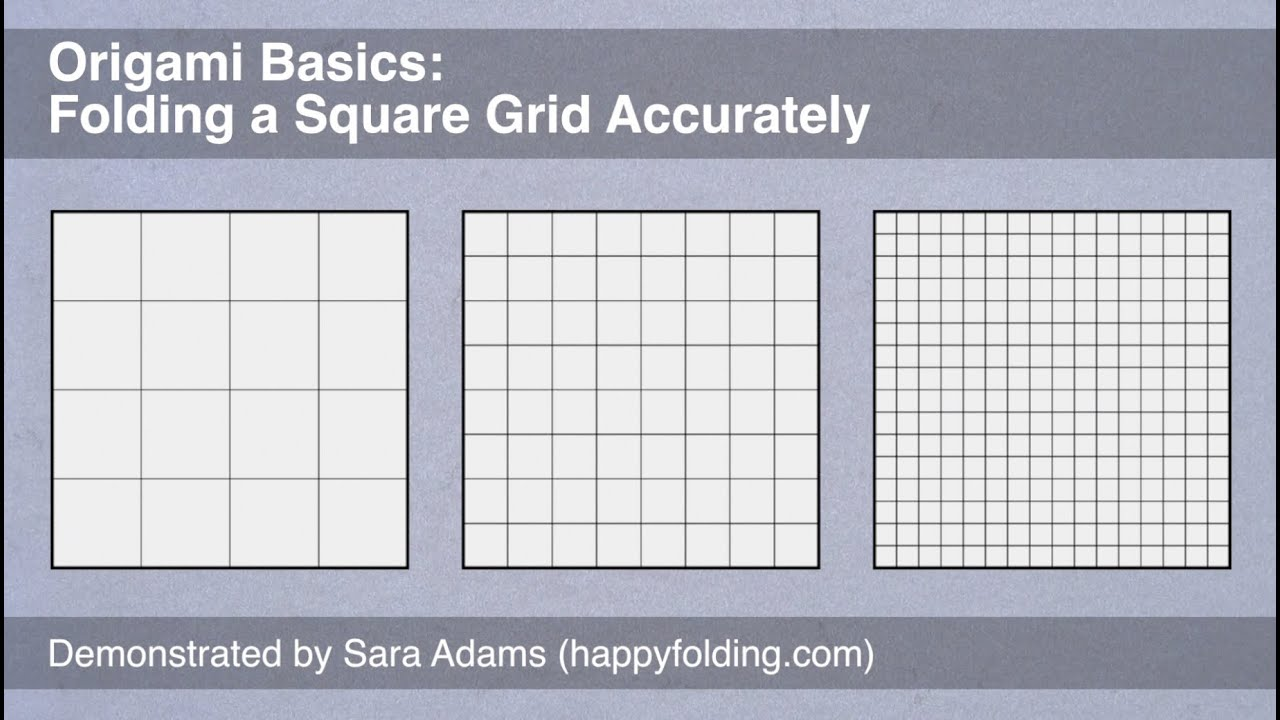 Origami basics folding a square grid accurately youtube for Architecture 9 square grid