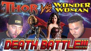 2 ASIANS REACT | Thor Vs Wonder Woman Death Battle Reaction