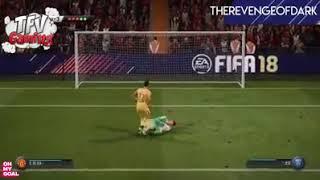 Những pha bóng hài hước trong fifa 18