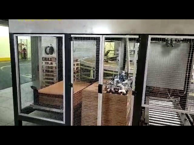 Паллетайзер, манипулятор укладчик, формирователь и заклейщик  ПОСТЭКС на производстве
