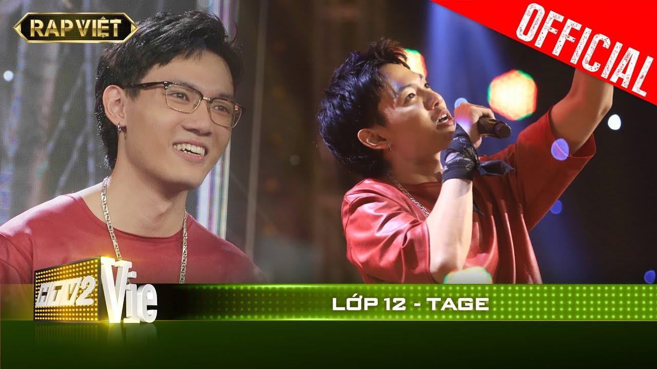 Chắc chắn đây là bài Rap trường học ngầu nhất của Tage | RAP VIỆT  [Live Stage]