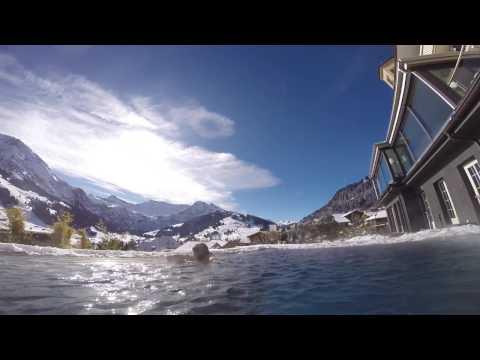 Piscina Incrível Na Suiça !! Hotel The Cambrian Adelboden