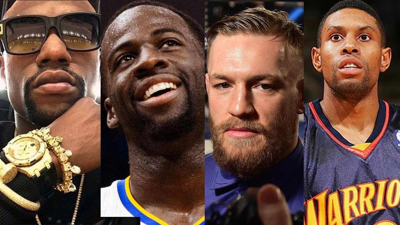 sale retailer ce1cd 3a01f Conor Mcgregor CLOWNS Draymond Green and Floyd Mayweather with a CJ Watson  Warriors Jersey