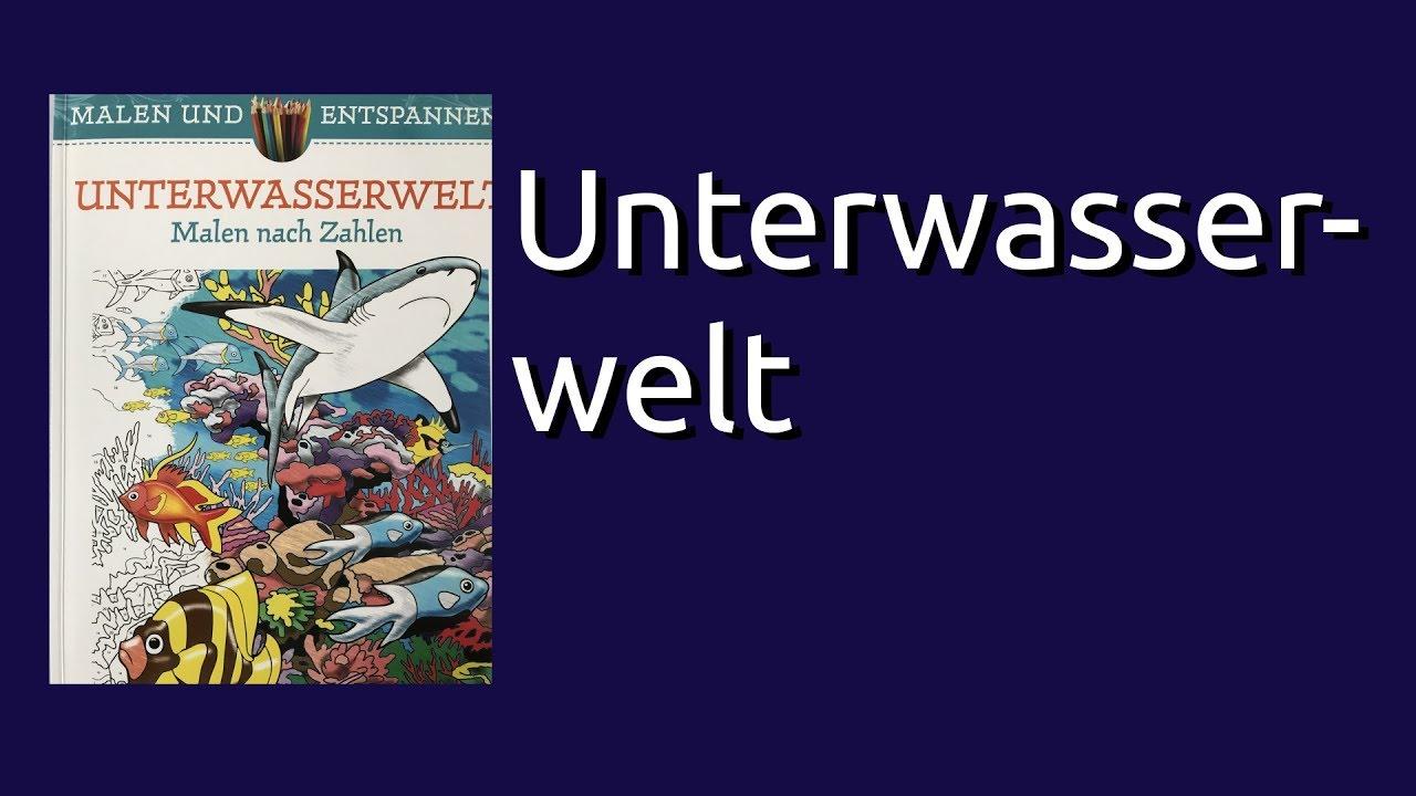 Coloring Book Flip Through Unterwasserwelt Malen Nach Zahlen