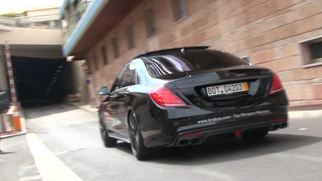 Brabus 850 S63 Amg 6 0 V8 Biturbo In Monaco Loud Sound Youtube