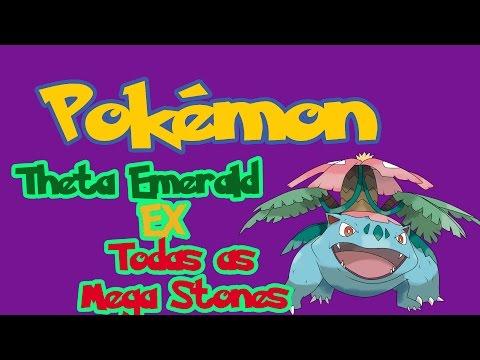 Pokémon Theta Emerald Ex 721: Localização de todas as Mega Stones