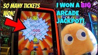 INTENSE JACKPOT WIN! Winning Arcade Prizes! Arcade Games Tickets Game Winner Fun | Jdevy