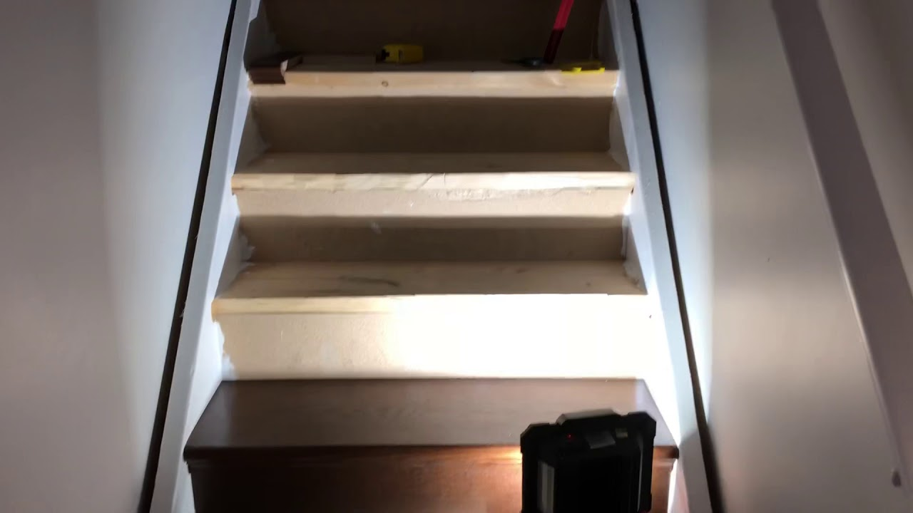 Stair Tread and Riser install over construction stairs