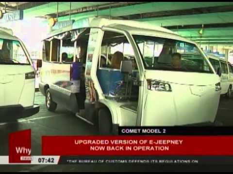 Upgraded version of E-Jeepney now back in operation