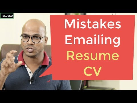 How NOT To Email Your Resume | CV