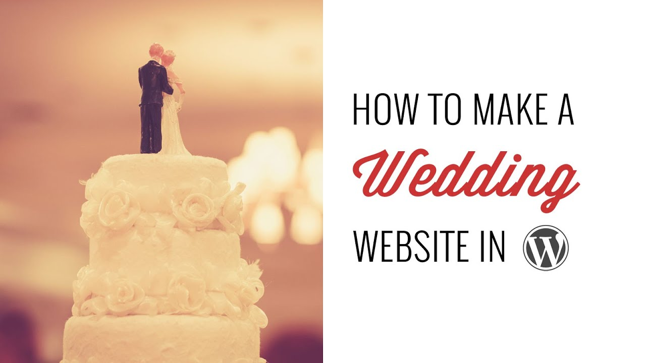 How to make a wedding site in wordpress youtube how to make a wedding site in wordpress junglespirit Choice Image