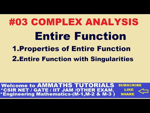 ENTIRE FUNCTION OF COMPLEX ANALYSIS  IN HINDI ,PROPERTIES OF ENTIRE FUNCTION