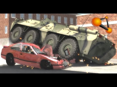 BeamNG.Drive Mod : BTR-80 / БТР-80 (Crash test)