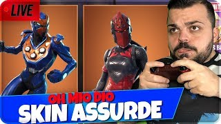 "🔴 LIVE FORTNITE SKIN ""ASSURDE"" Red CAVALIERE !"