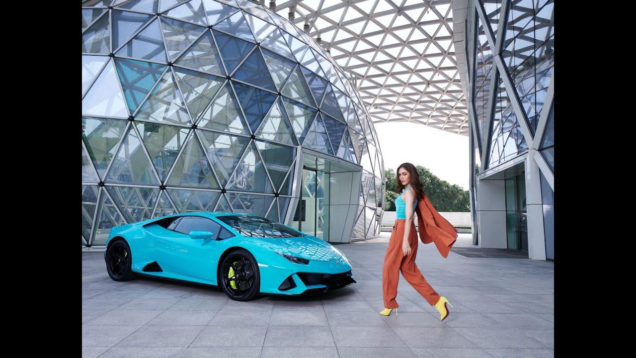 Chompoo x Lamborghini Huracán EVO on L'OFFICIEL Magazine in May 2021