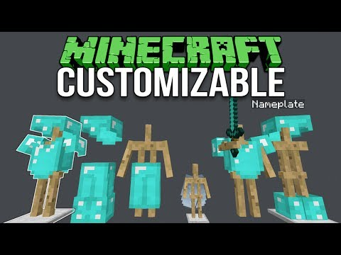 Minecraft 1.12 Customizable Armor Stands Tutorial